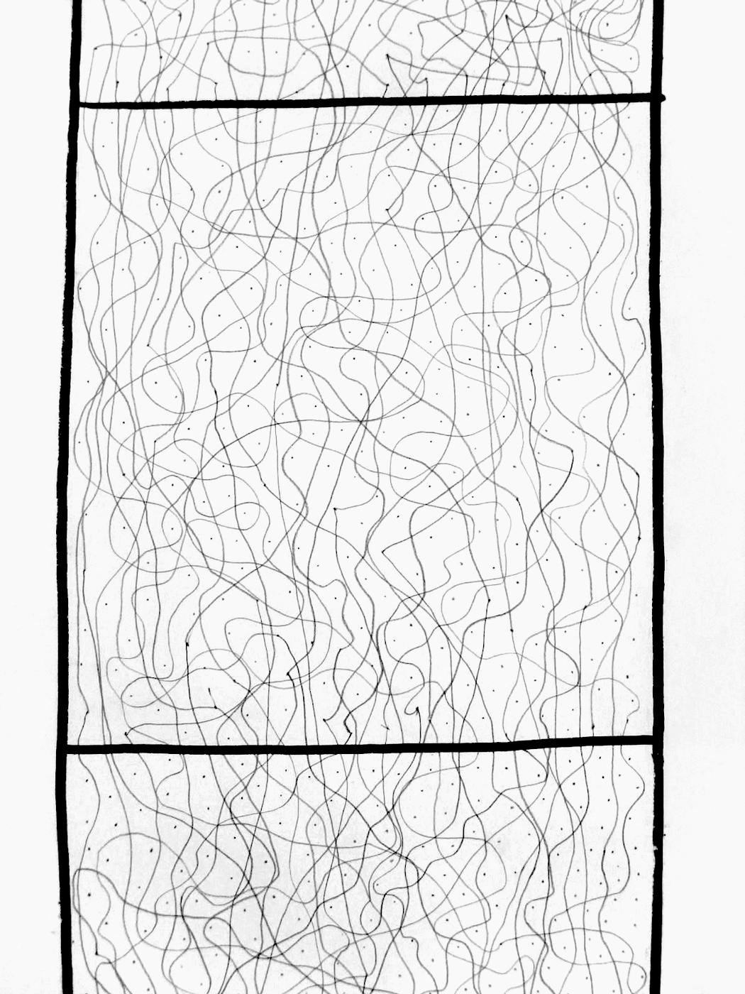 Dessin de recherche, crayon sur papier
