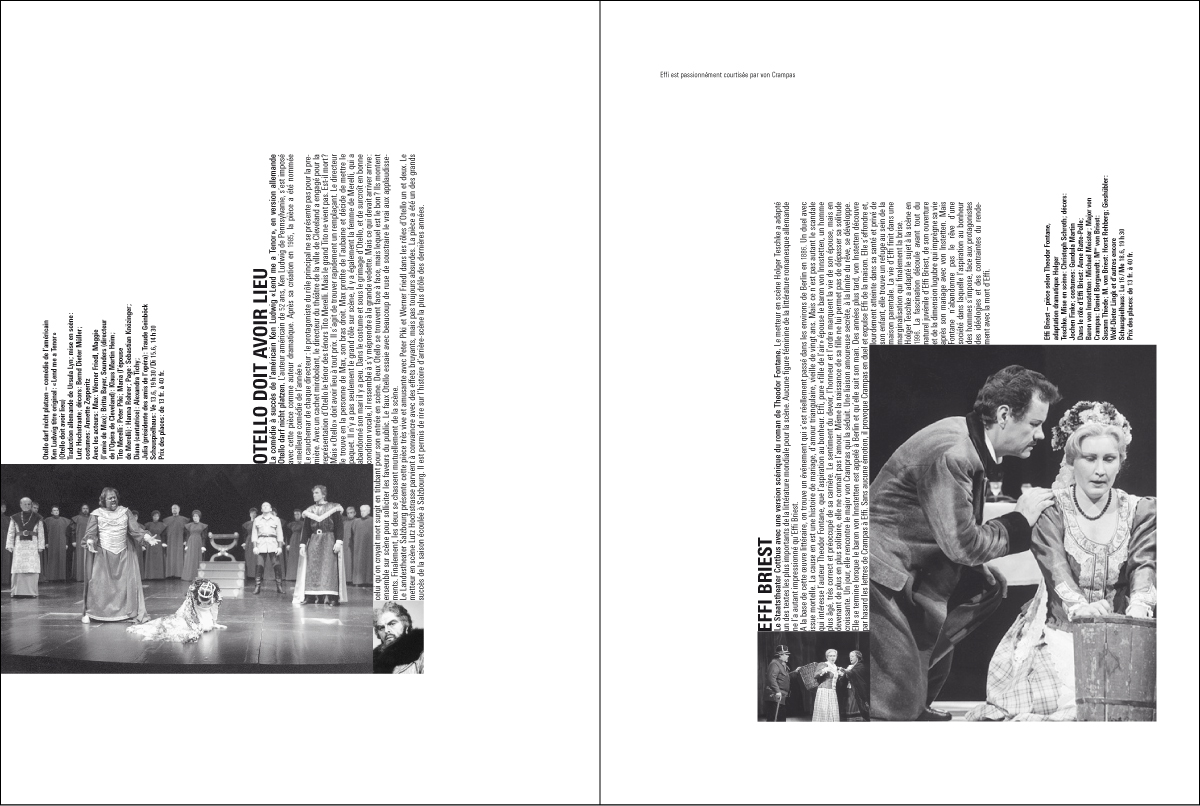 Brochure Theaterfestwochen Zurich