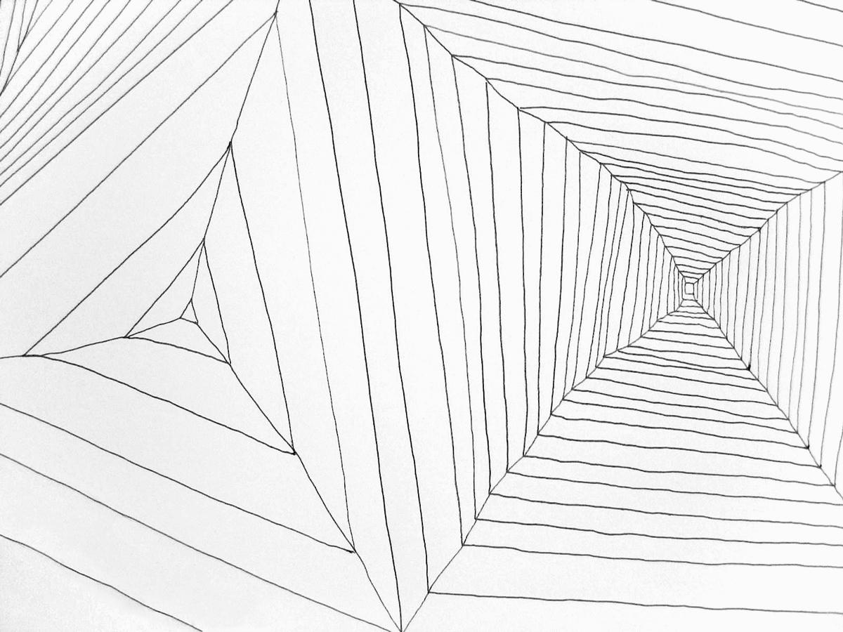 Dessin de recherche – Stylo à bille sur papier