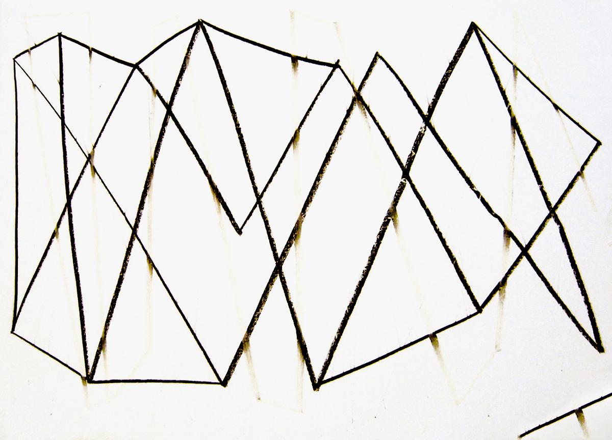 Dessin de recherche – Pastels sur papier