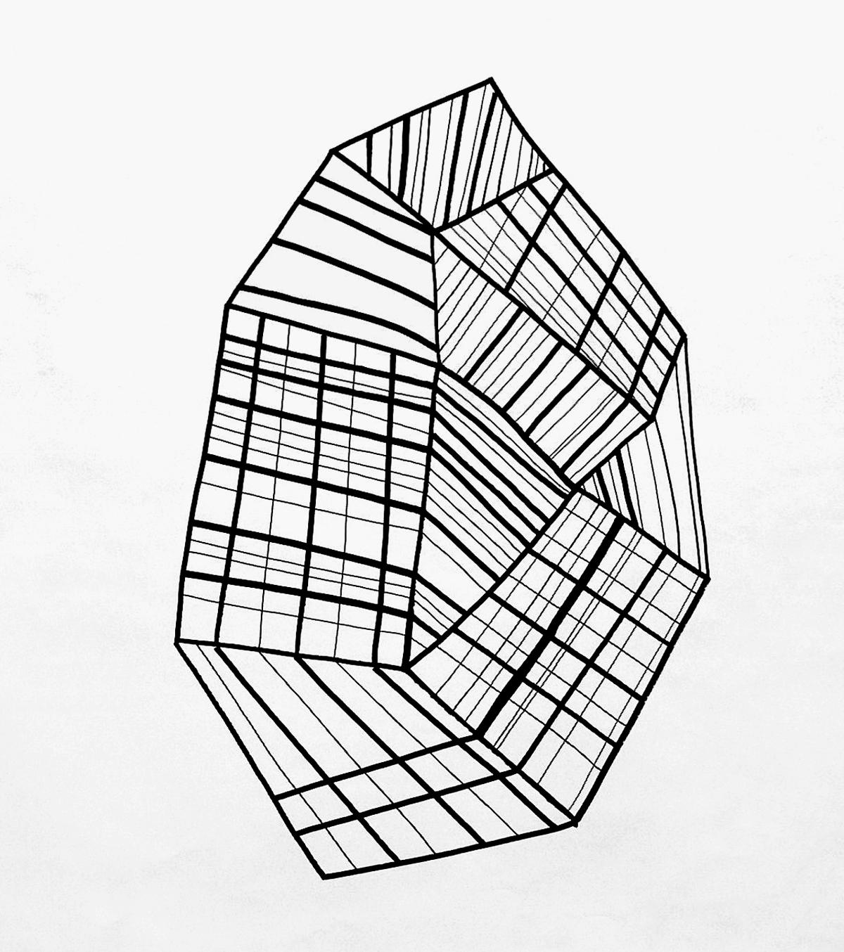 Dessin de recherche – Fusain sur papier