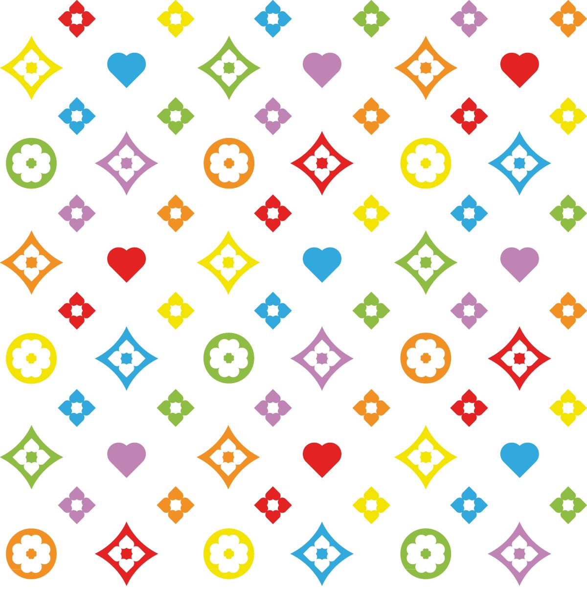 Motif tissu Love – Unité de base du motif