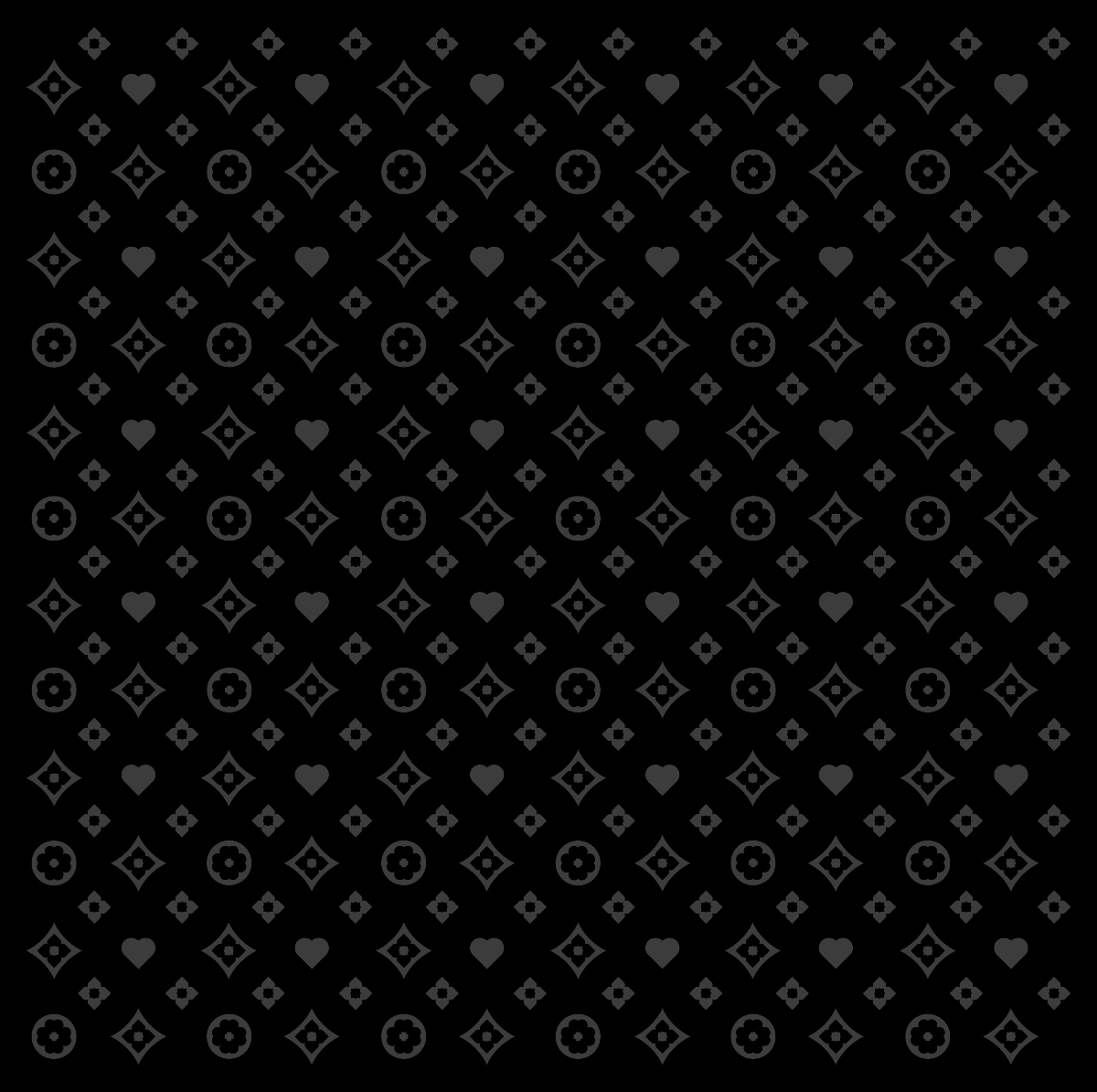 Motif tissu Love – Variations chromatiques 2