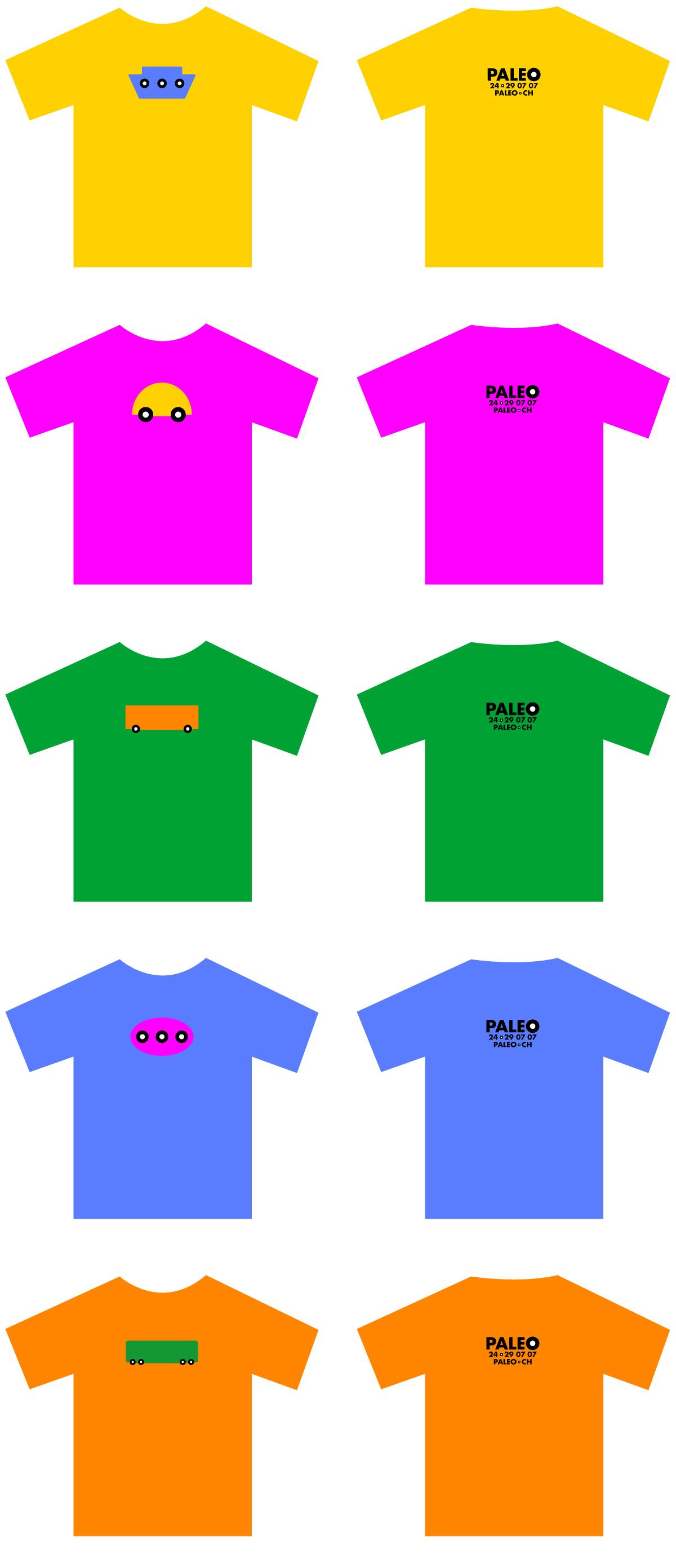 T-shirts Paleo Festival de Nyon - 2007