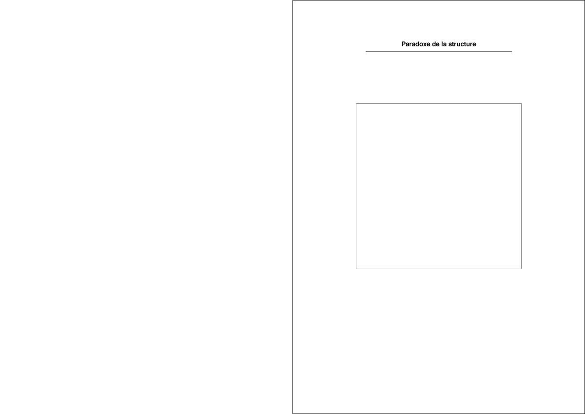 Paradoxe de la structure - Couverture