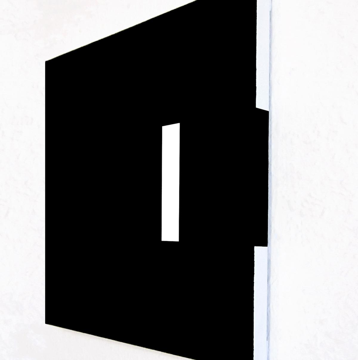 Peinture Minimal Space – 30x30 / Peinture acrylique sur toile, vernis satiné