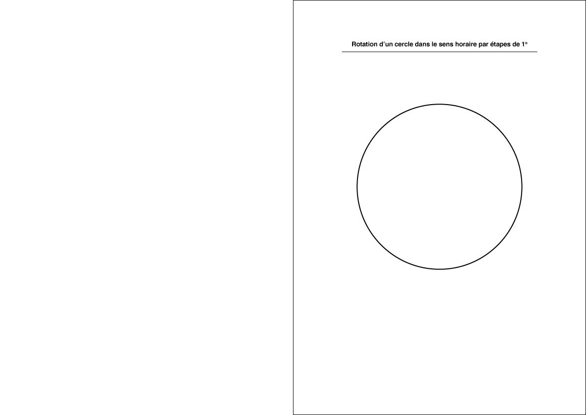 Rotation d'un cercle – Couverture