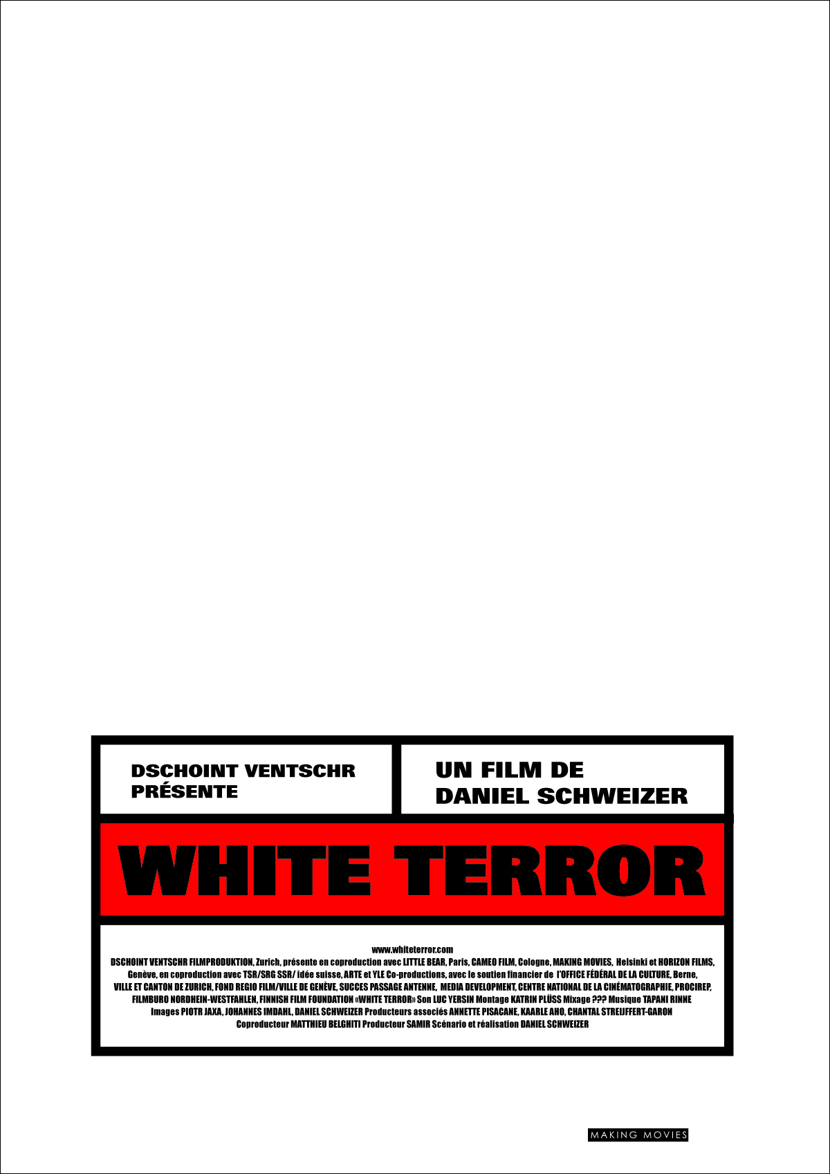 Affiche pour le film-documentaire White Terror